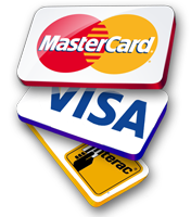 We Accept MasterCard, Visa and Interac